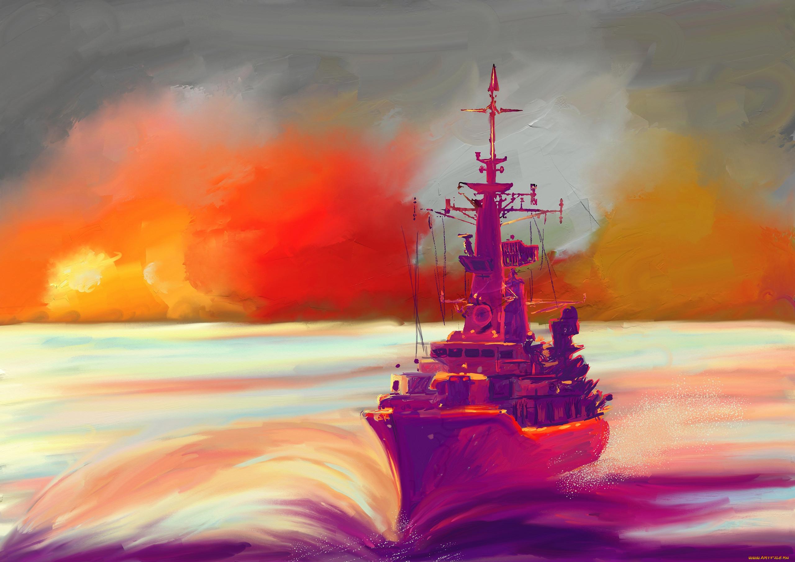 Картинки и рисунки кораблей